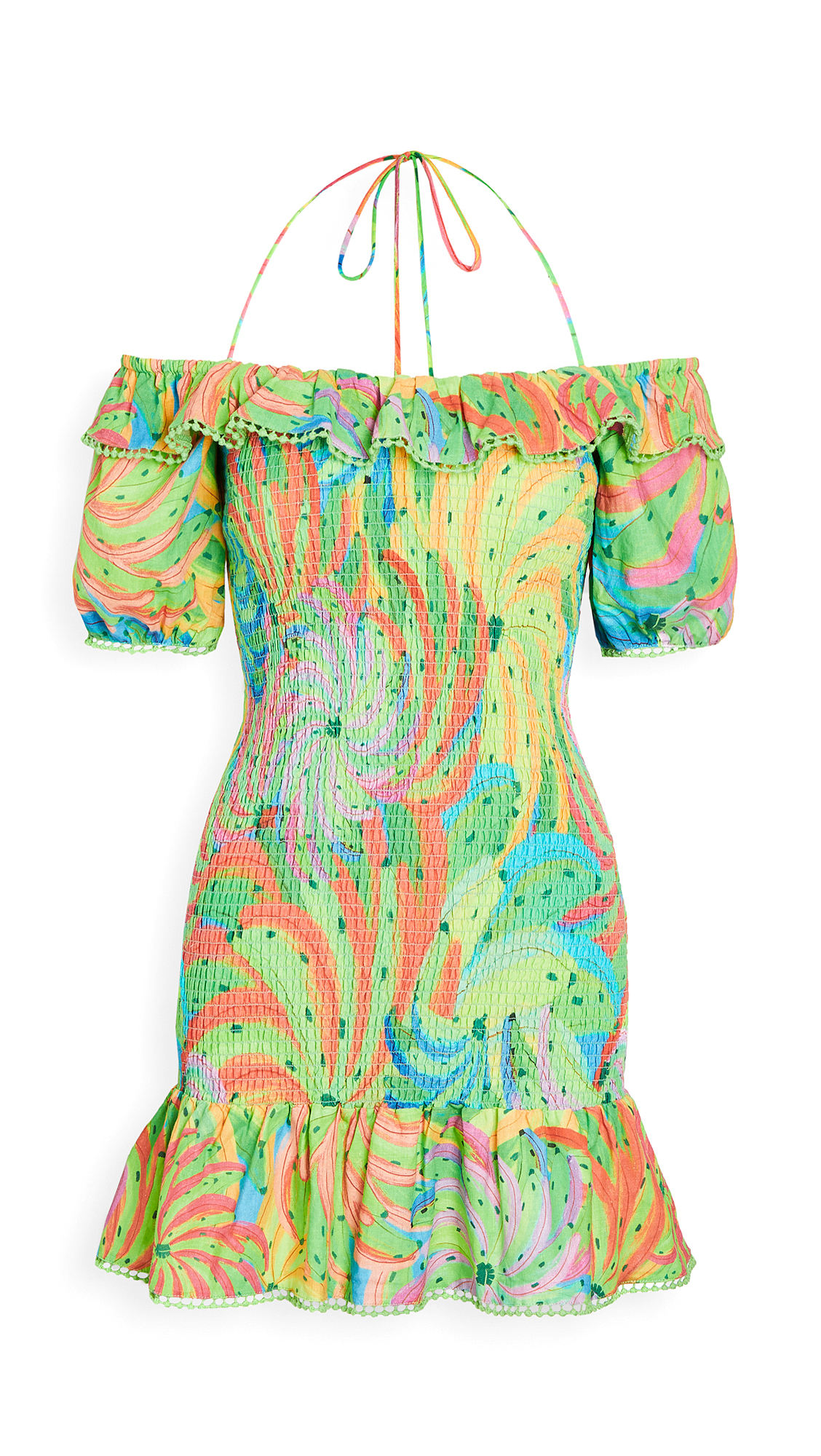 FARM Rio Neon Banana Mini Dress
