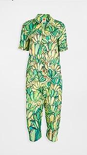 FARM Rio Green Banana Jumpsuit