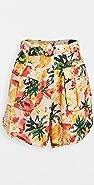FARM Rio Frutas Linen Shorts