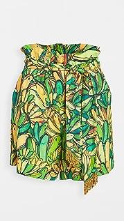 FARM Rio Green Banana Shorts