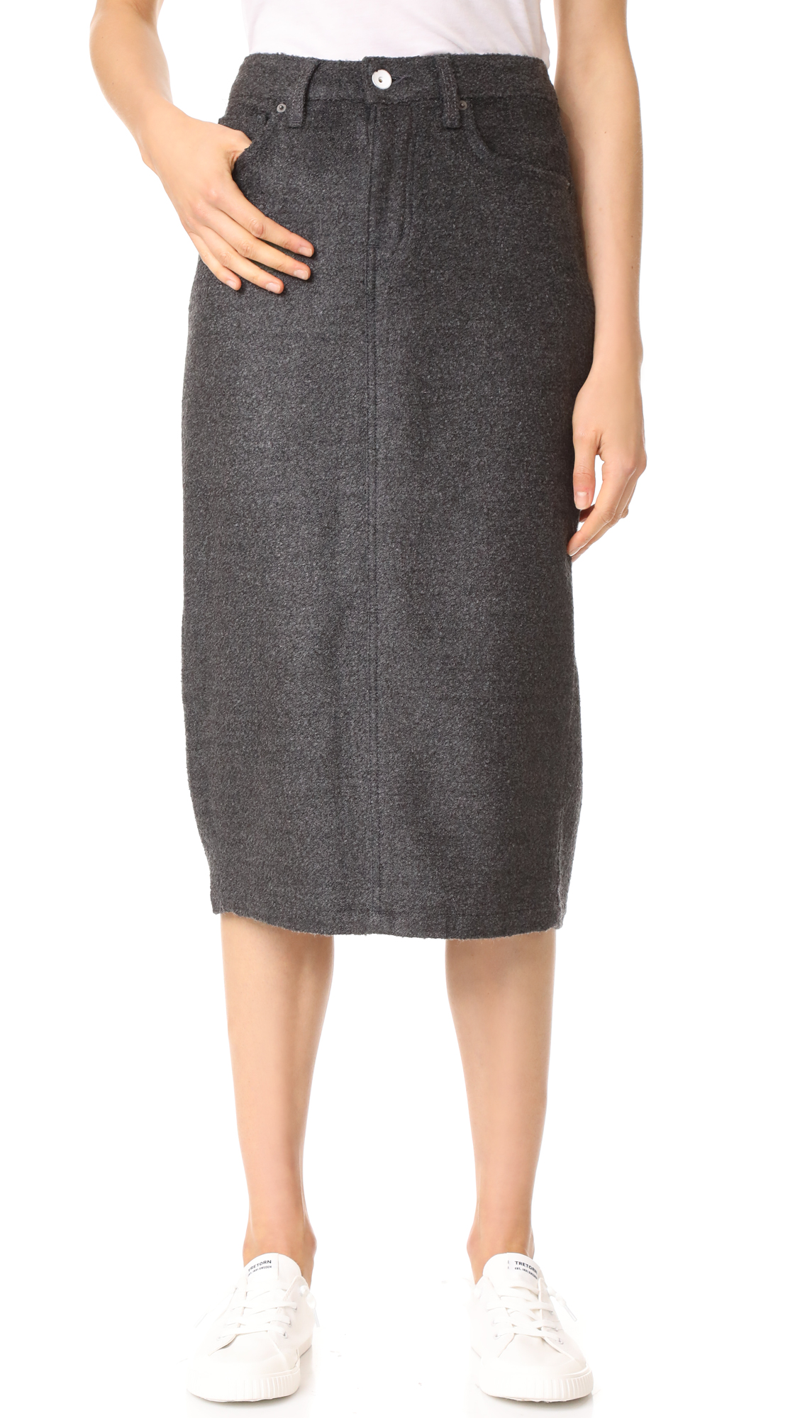 Father's Daughter Wilcox High Rise Midi Skirt