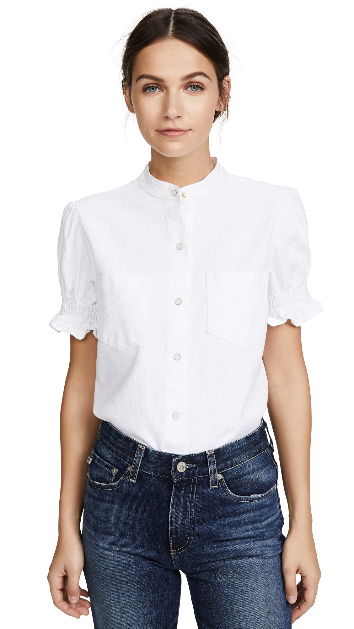 Father's Daughter Becca Gathered Sleeve Shirt