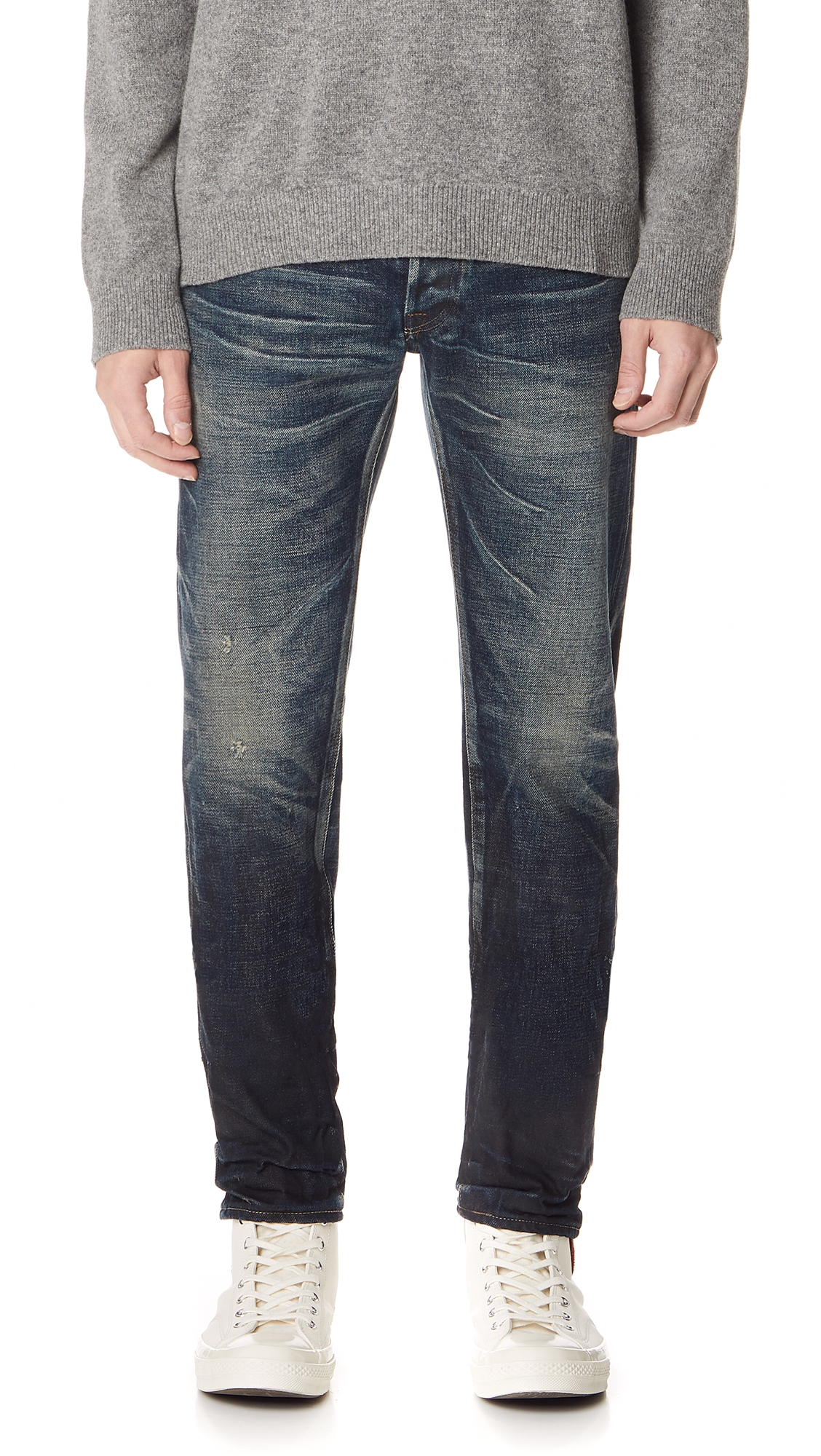 FABRIC BRAND & CO. Selvedge Slim Fit Jeans in Aksel