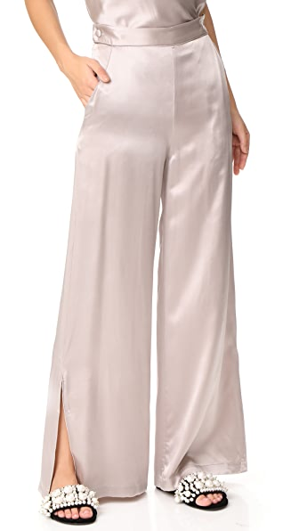 Fleur du Mal Pants with Side Buttons