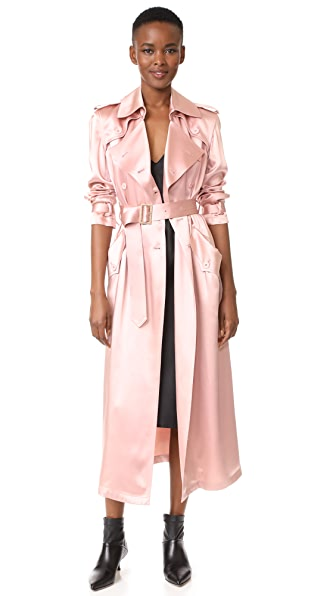Fleur du Mal Trench Coat In Rose