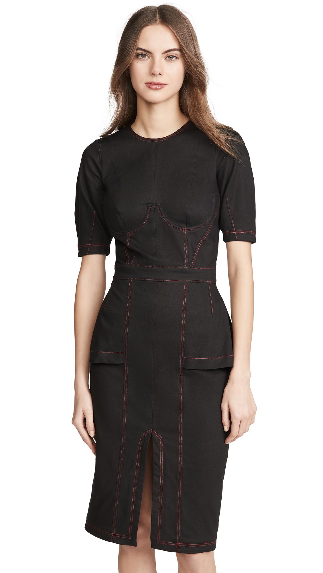 Buy Fleur du Mal online - photo of Fleur du Mal Topstitch Corset Dress