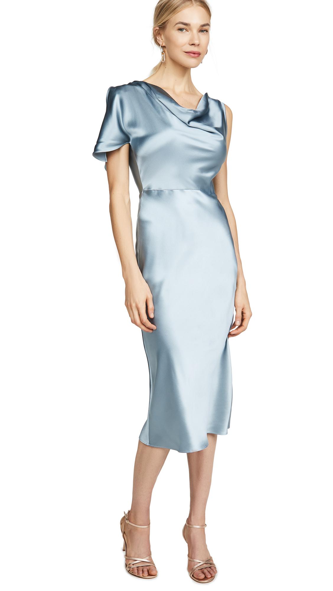 Buy Fleur du Mal online - photo of Fleur du Mal Asymmetrical Cowl Dress