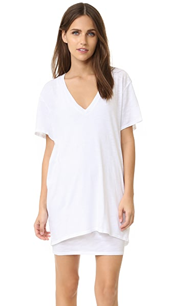 Feel The Piece Talia V Neck T-shirt Dress