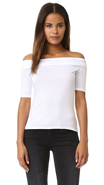 Feel The Piece Off Shoulder Top - White