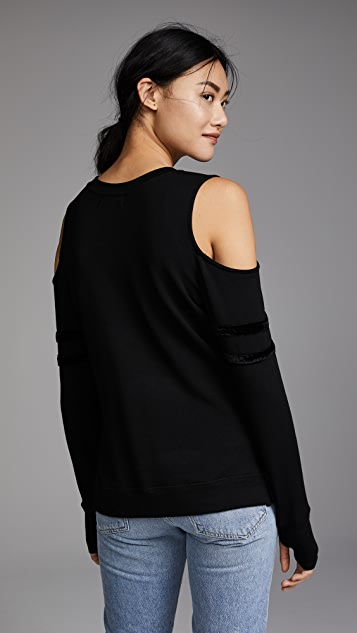 Feel The Piece Somerville Cold Shoulder Sweatshirt