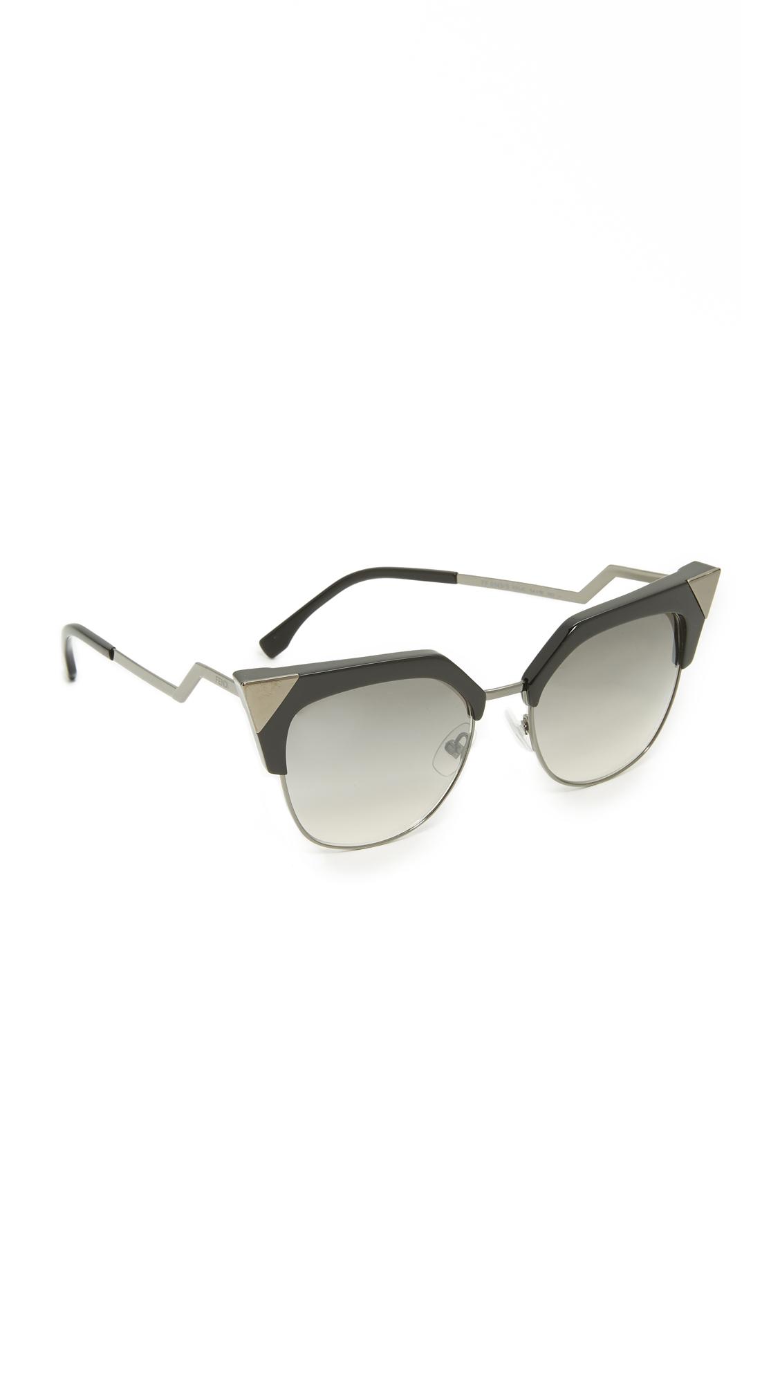 cf7ce12ccfa54 Fendi Iridia Crystal Corner Sunglasses