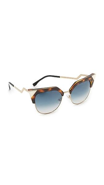 Fendi Iridia Crystal Corner Sunglasses at Shopbop