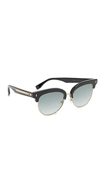 Fendi Color Block Sixteen Sunglasses - Black/Grey at Shopbop