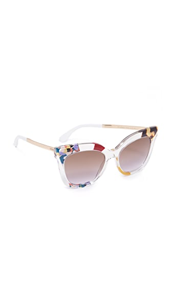 Fendi Jungle Printed Sunglasses - Honey Gold/Brown Violet at Shopbop