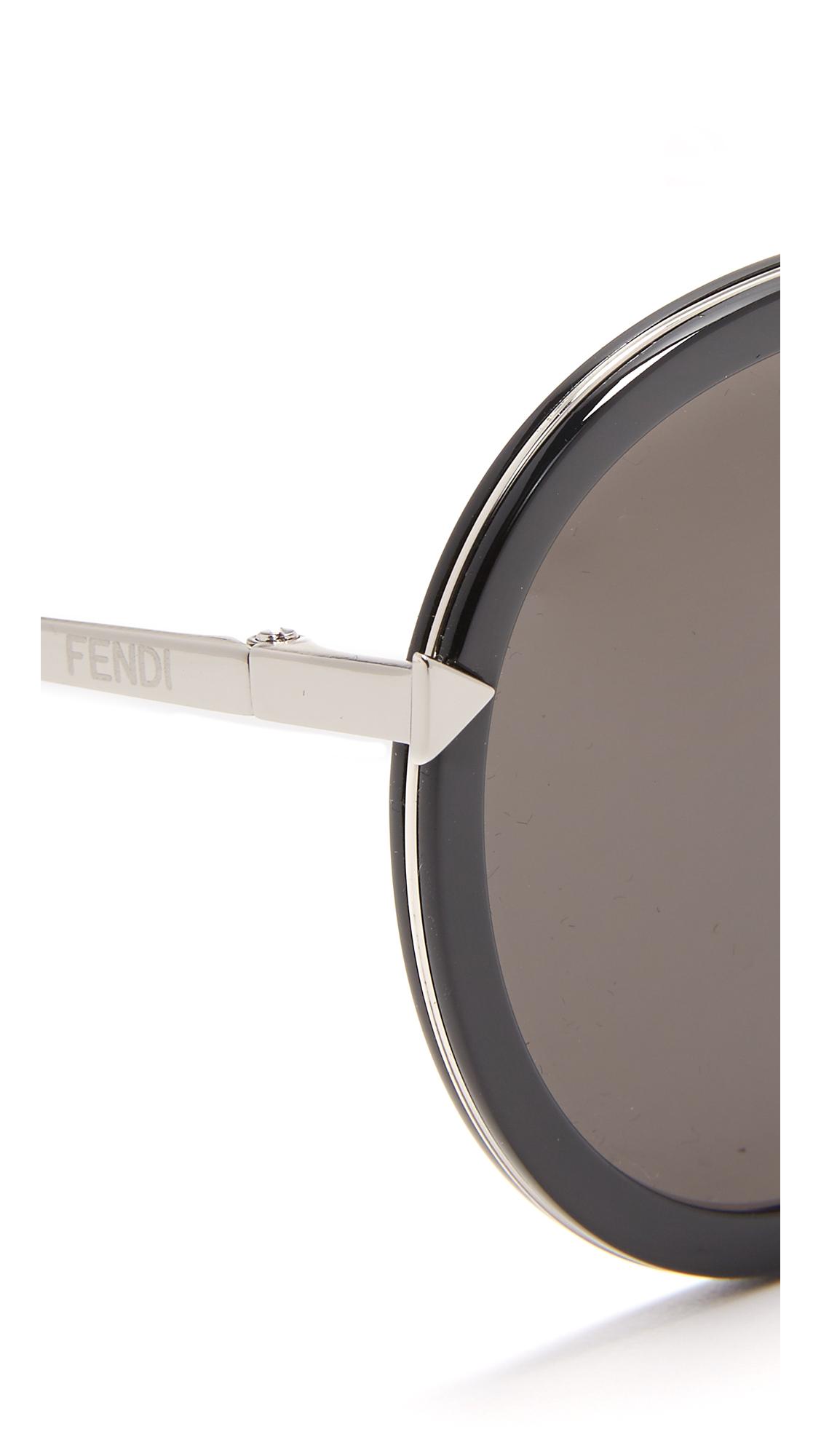 08e5fe1fb5a7 Fendi Funky Angle Round Sunglasses