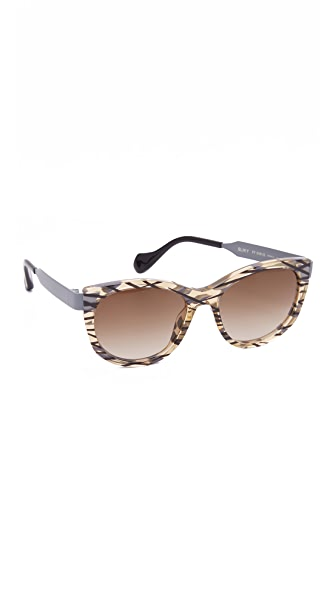 Fendi Thierry Lasry X Fendi Slinky Sunglasses - Ochre Grey/Brown at Shopbop
