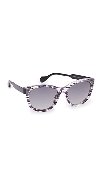 Fendi Thierry Lasry X Fendi Slinky Sunglasses - Crystal Black/Grey at Shopbop