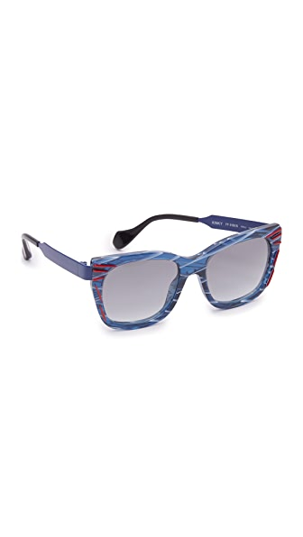 Fendi Thierry Lasry X Fendi Kinky Sunglasses - Red Dark Blue/Grey at Shopbop