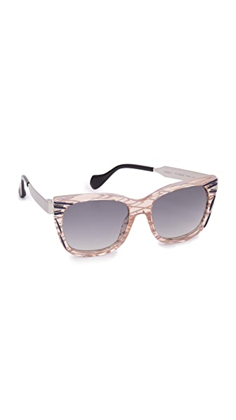 Fendi Thierry Lasry X Fendi Kinky Sunglasses - Pink Palladium/Grey at Shopbop