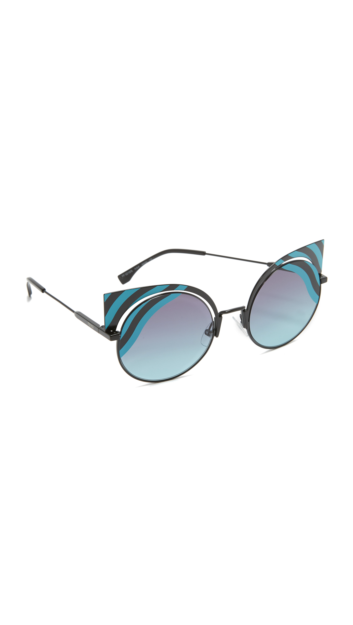 Fendi Hyposhine Sunglasses - Turquoise/Blue Aqua at Shopbop