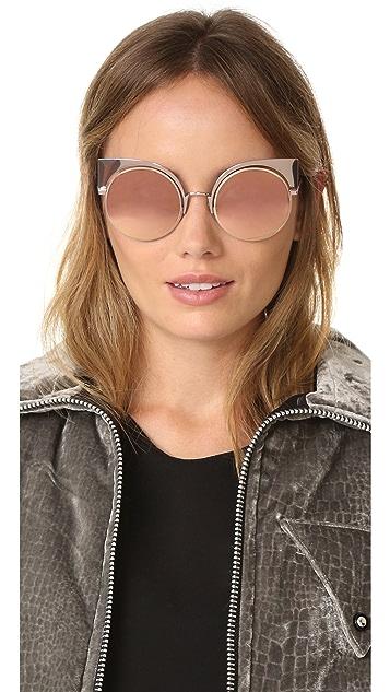 Fendi Cat Eye Mirrored Sunglasses