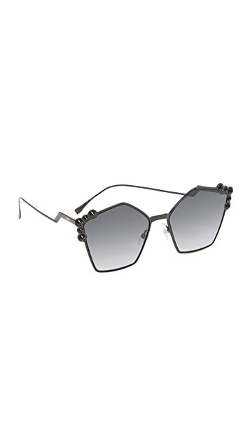 Fendi Geometric Sunglasses