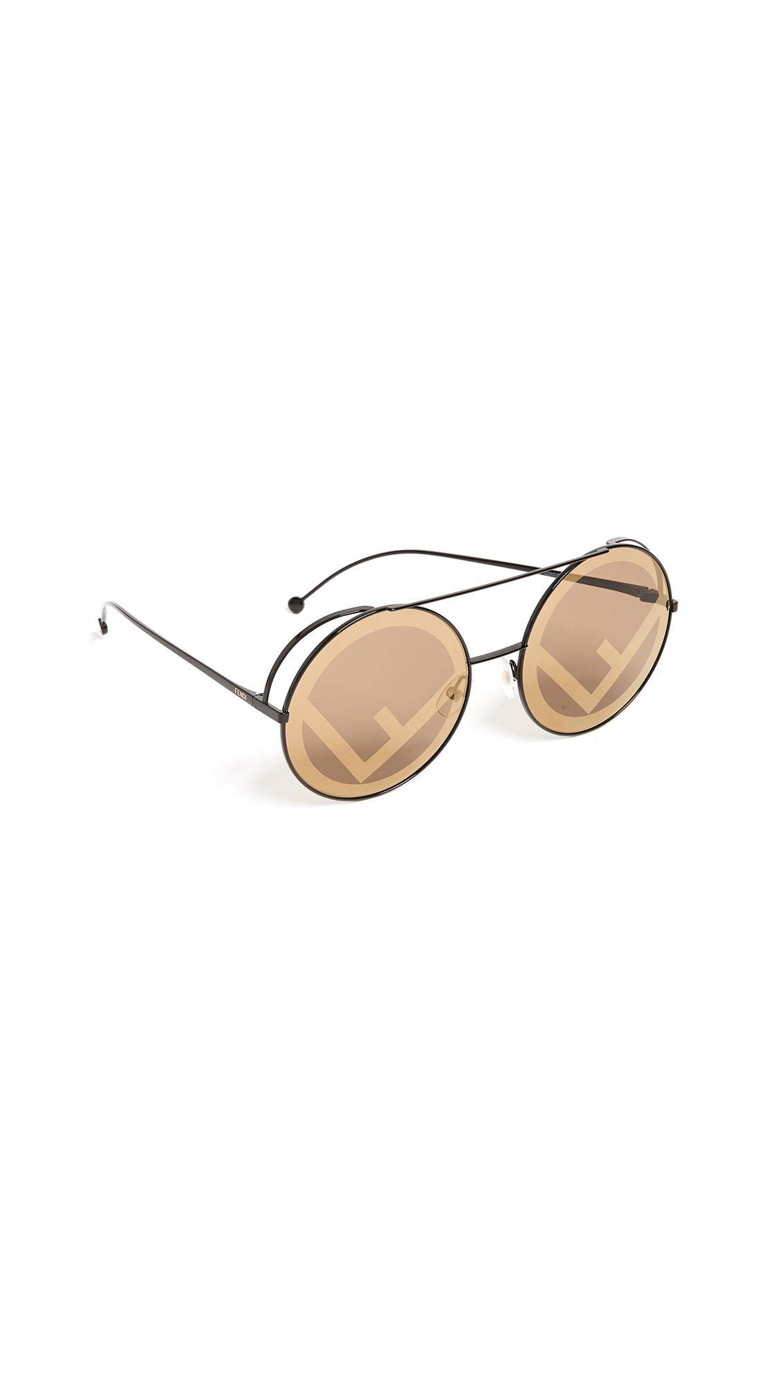 Fendi Round Holographic Sunglasses