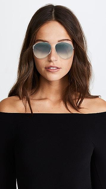 Fendi Double Rim Aviator Sunglasses