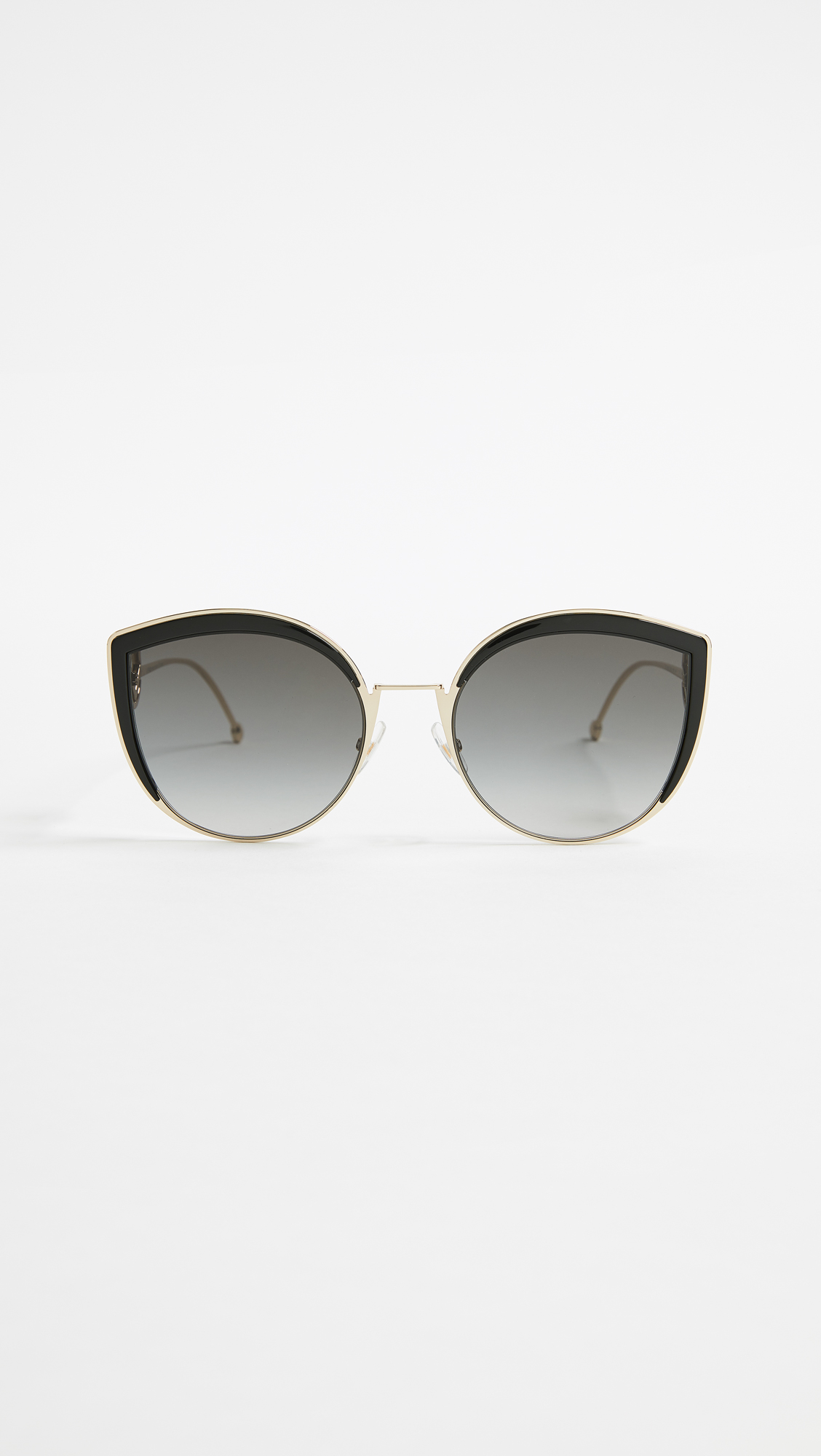 1d17aea554 Fendi Round Slight Cat Eye Sunglasses