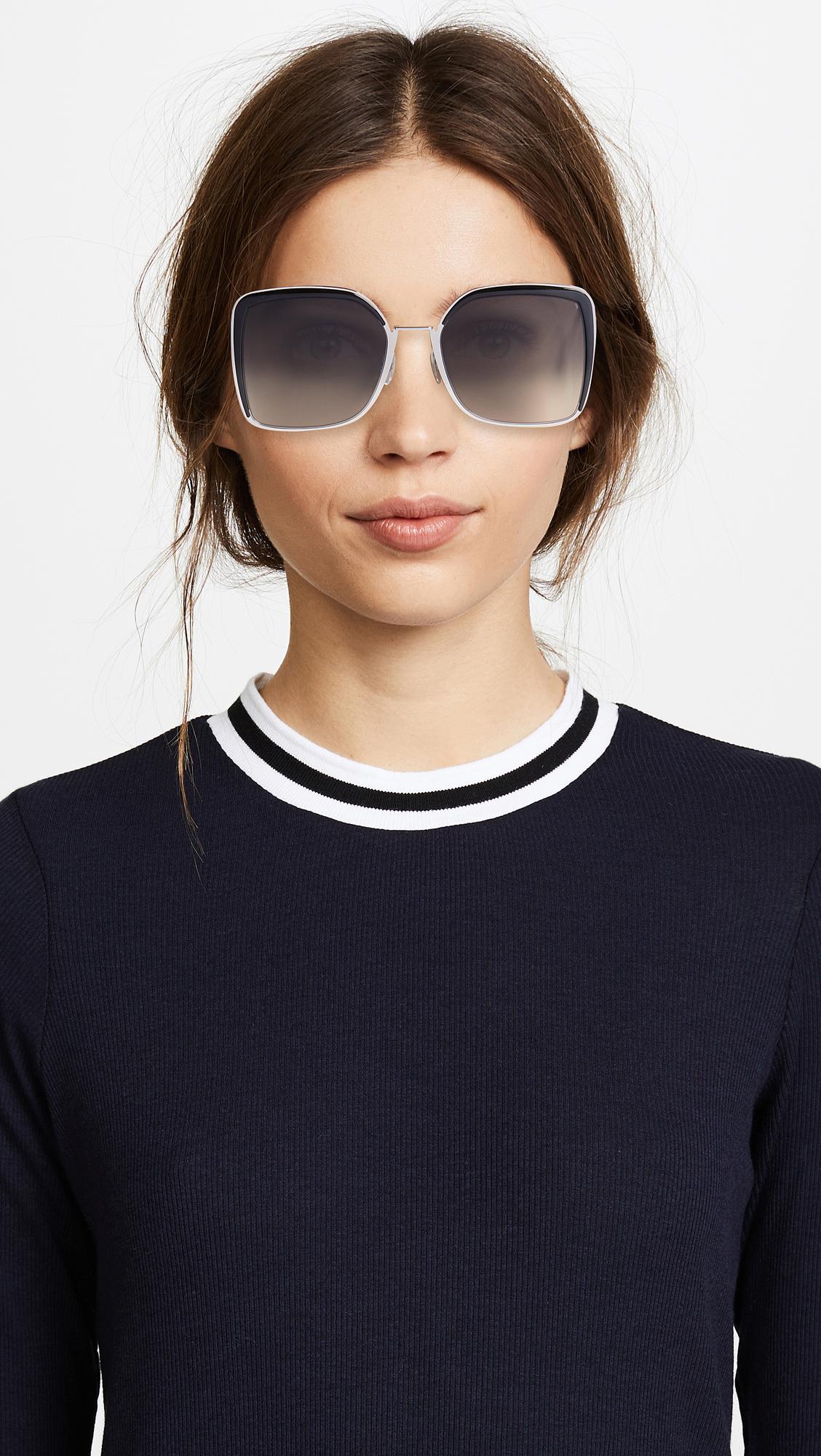 f3f97fbaeacf8 Fendi Square Oversized Sunglasses