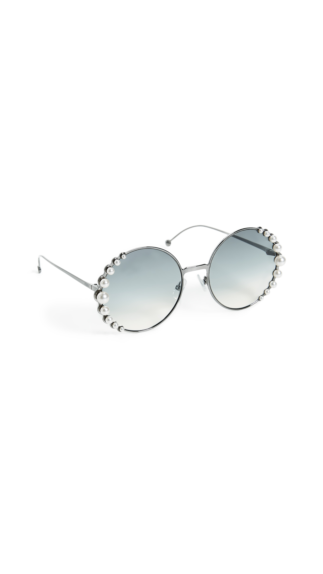 b1af55efaad6 Fendi Round Pearl Frame Sunglasses
