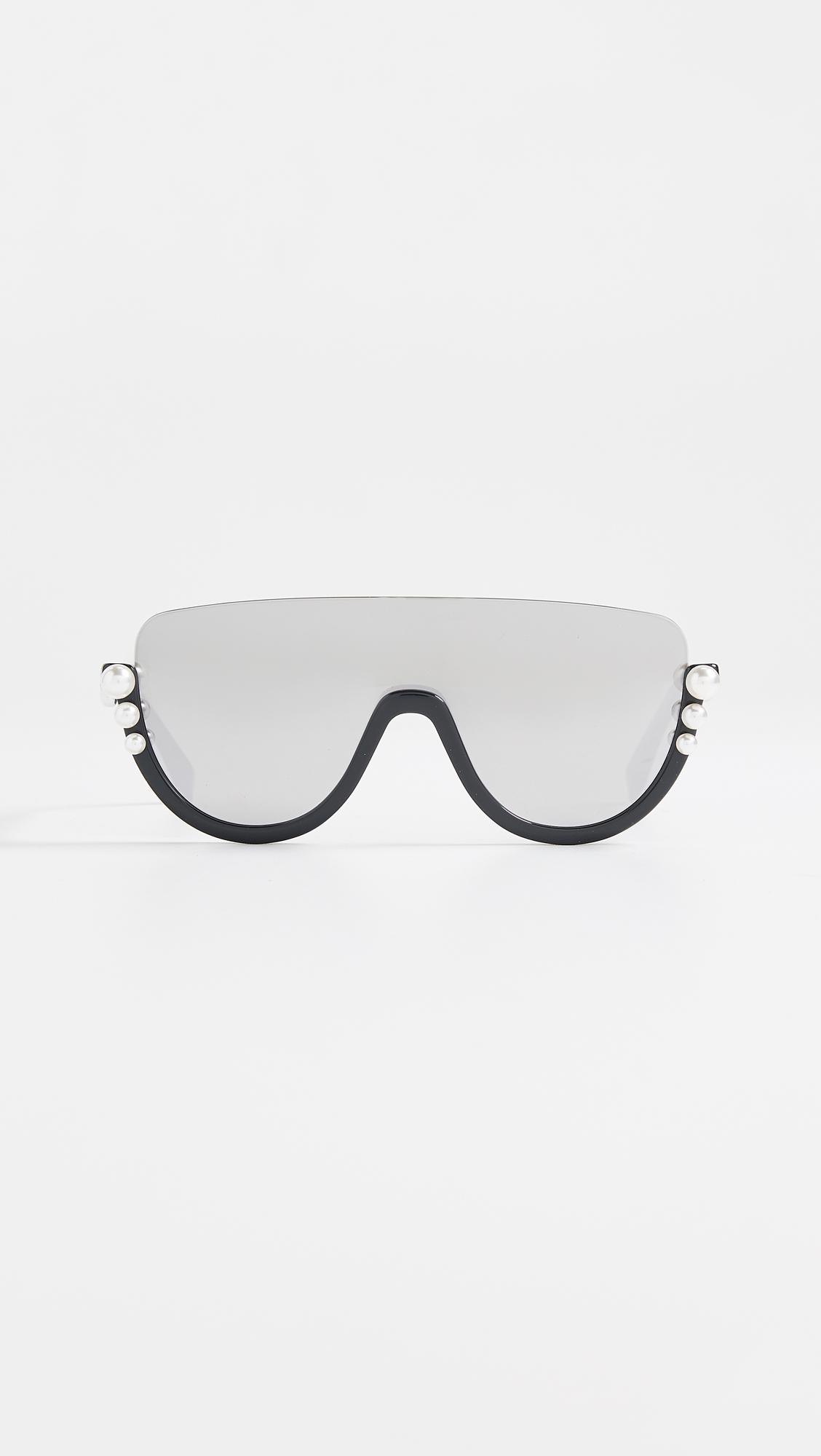 64188f20cf4 Fendi Bottom Frame Imitation Pearl Sunglasses