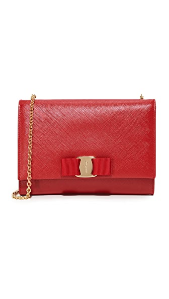 Salvatore Ferragamo Miss Vara Bow Mini Bag - Rosso