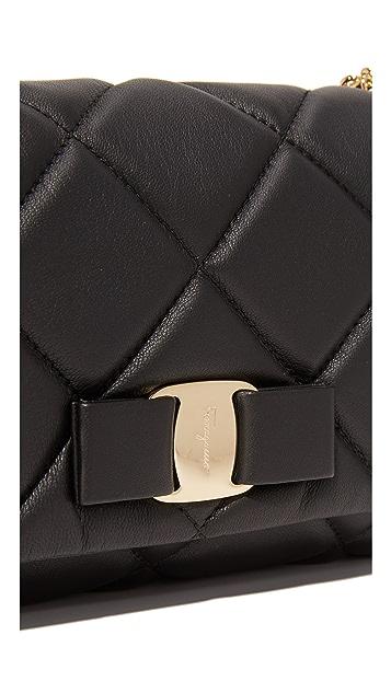Salvatore Ferragamo Miss Vara Bow Soft Quilted Shoulder Bag