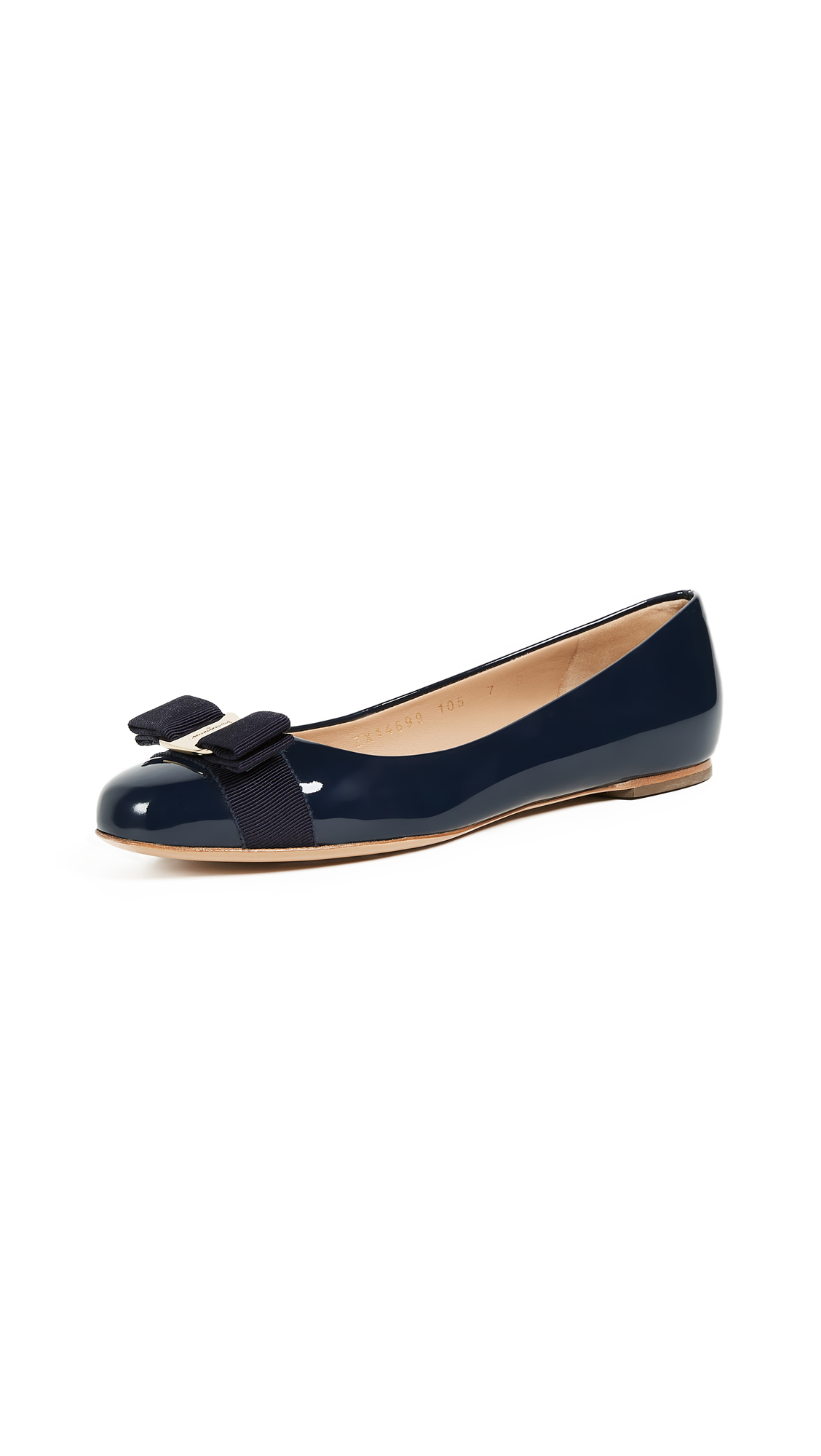 Salvatore Ferragamo Varina Flats - Oxford Blue
