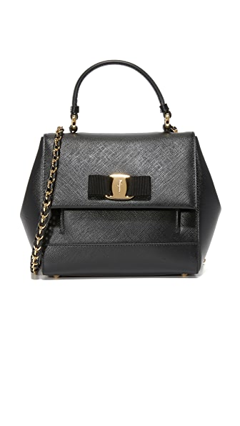 Salvatore Ferragamo Carrie Small Satchel - Black