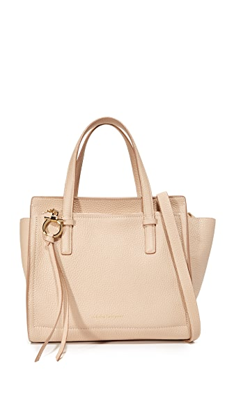 Salvatore Ferragamo Small Amy Tote - New Bisque