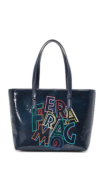 Salvatore Ferragamo Объемная сумка с короткими ручками Bonnie