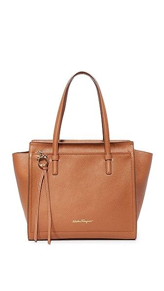Salvatore Ferragamo Объемная сумка с короткими ручками Amy