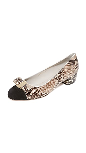 Salvatore Ferragamo Vara Piping Pumps