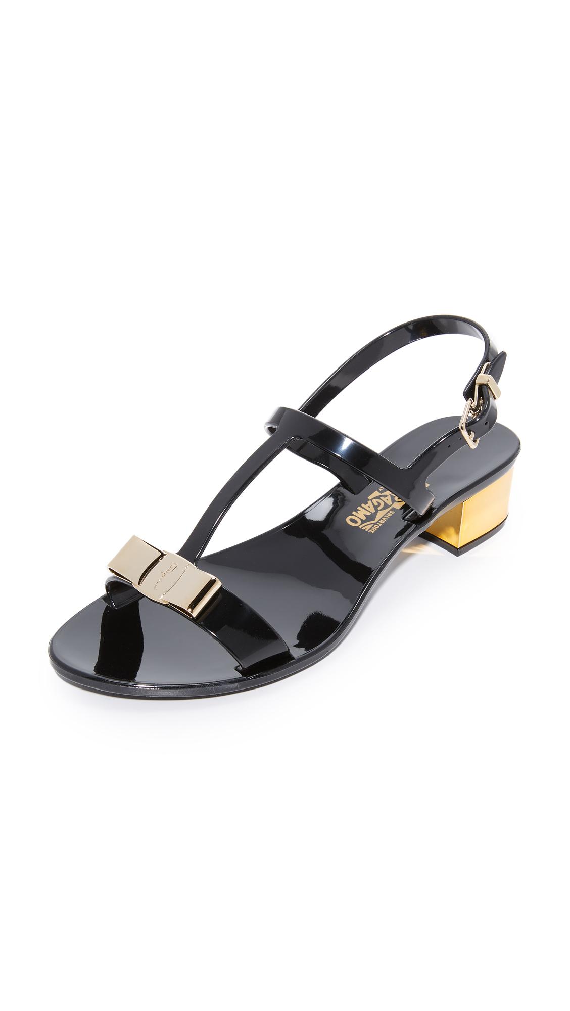 Salvatore Ferragamo Favilia Jelly City Sandals - Nero