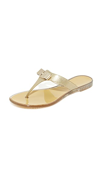 Salvatore Ferragamo Farelia Thong Sandals - Glitter Sand
