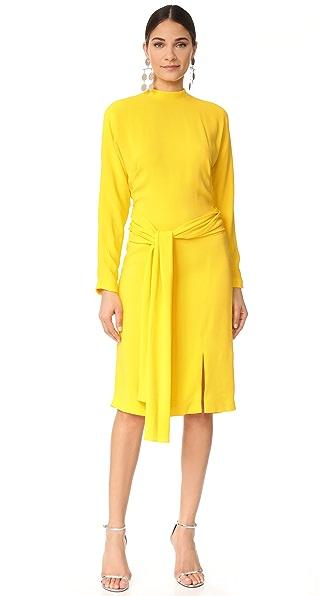Фото Salvatore Ferragamo Платье с длинными рукавами. Купить с доставкой