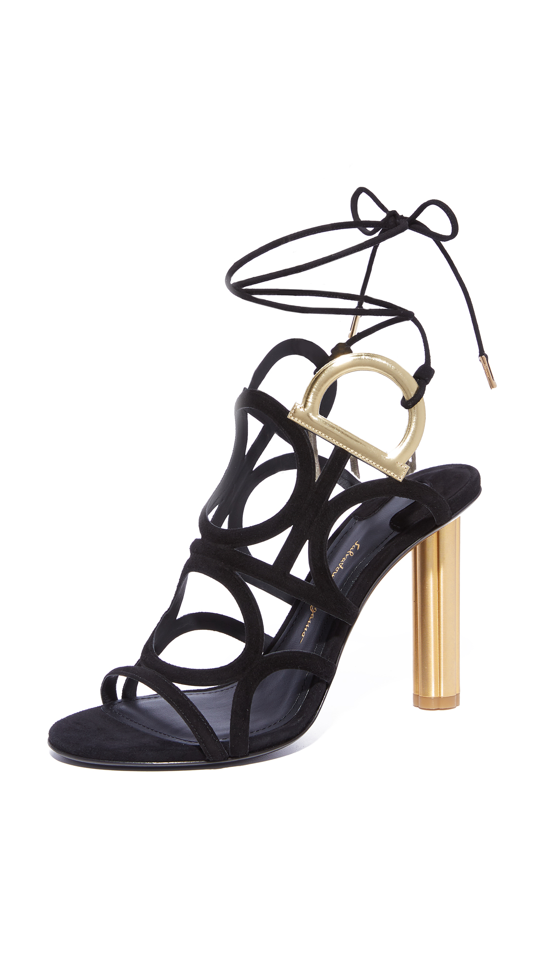 Salvatore Ferragamo Vinci Wrap Sandals - Nero