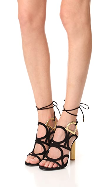 Salvatore Ferragamo Vinci Wrap Sandals