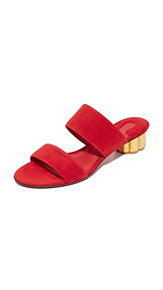Salvatore Ferragamo Belluno City Slides - Lipstick