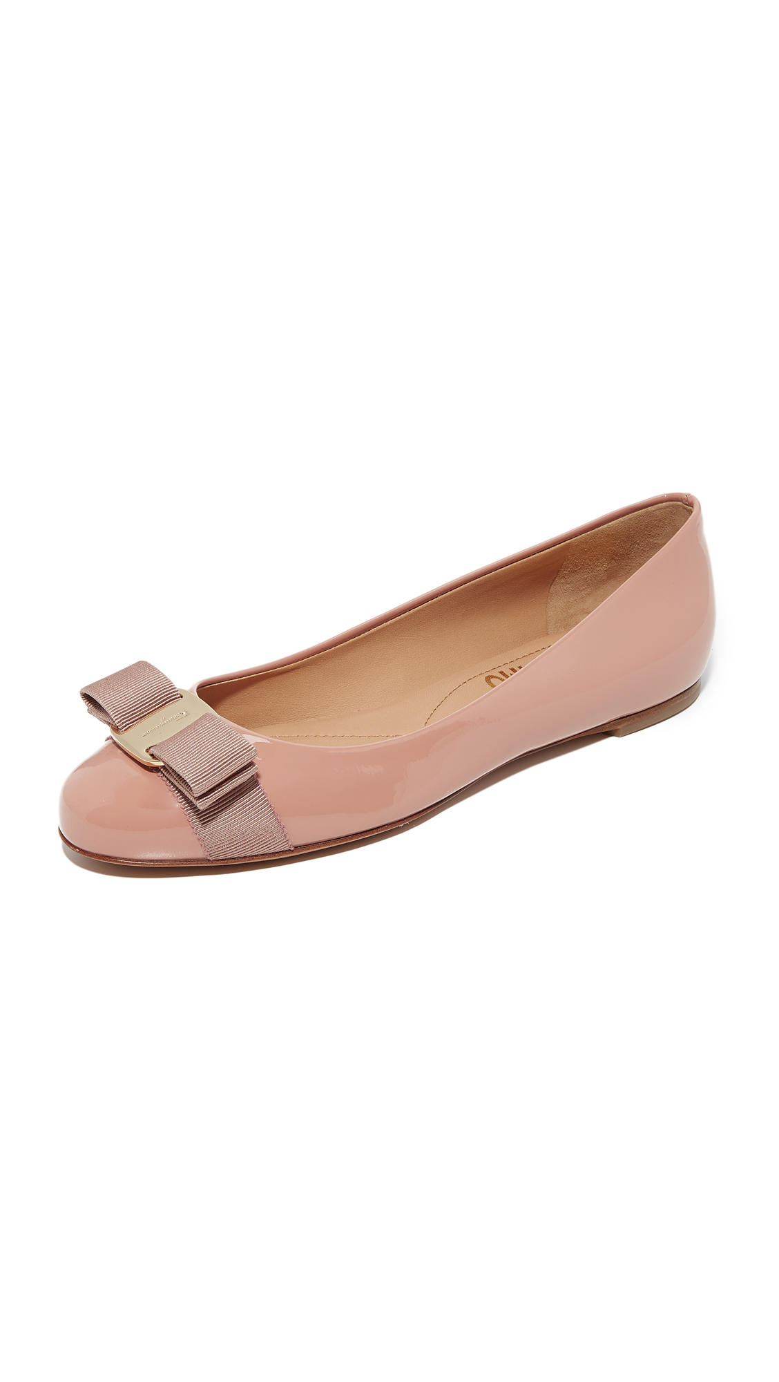 Salvatore Ferragamo Varina Flats - New Blush