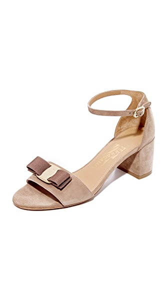Salvatore Ferragamo Gavina City Sandals - Clay