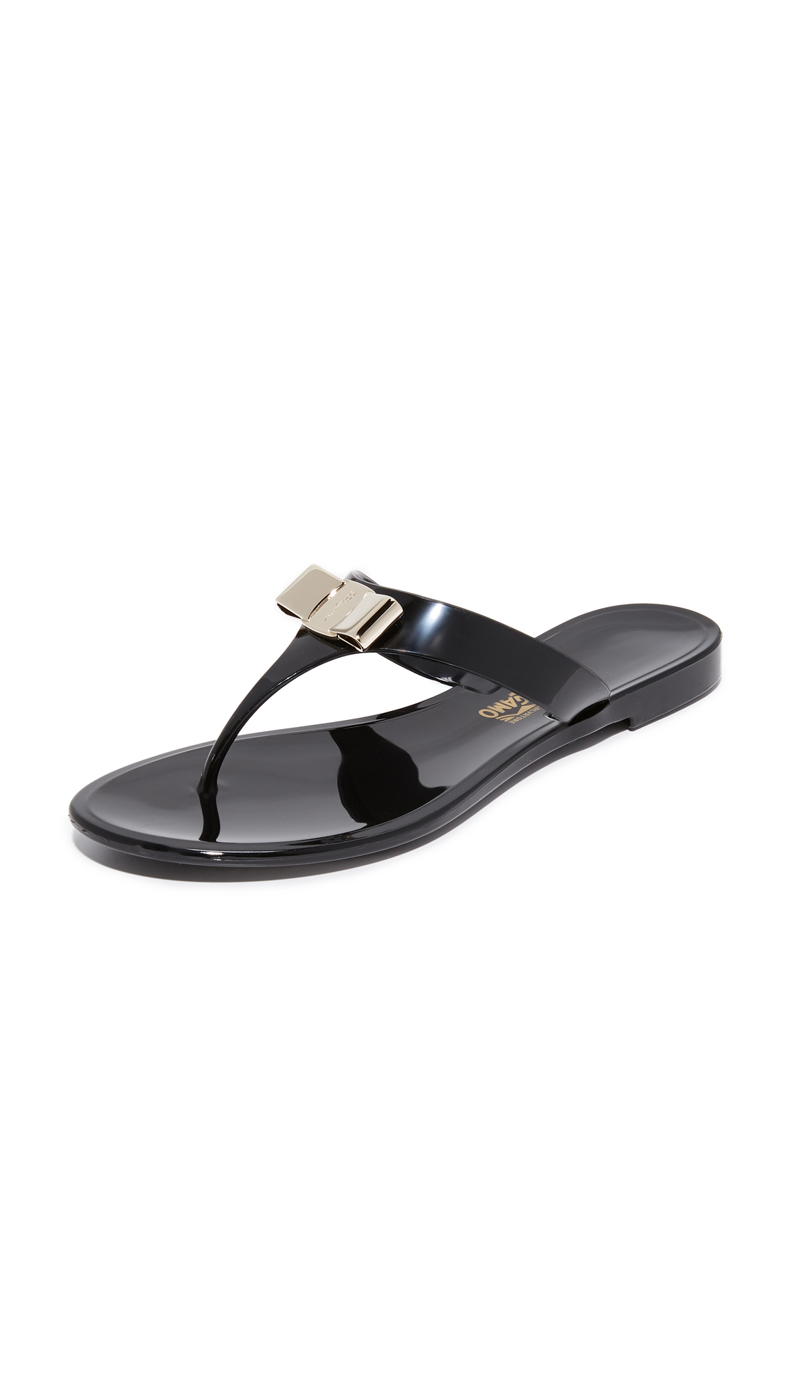 Salvatore Ferragamo Farelia Thong Sandals - Nero