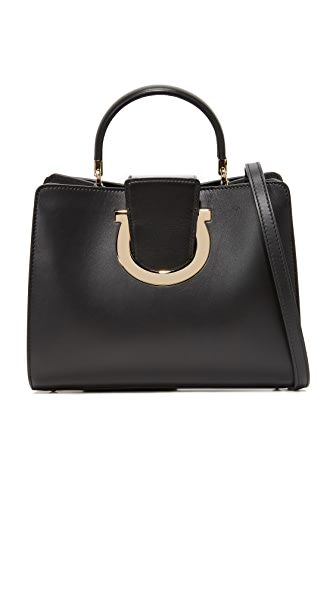 Salvatore Ferragamo Thea Top Handle Satchel - Nero